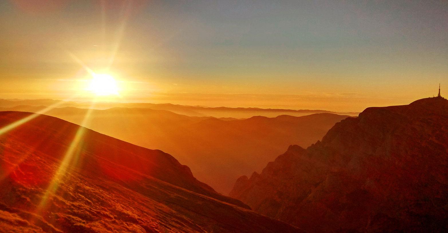 Rasarit de soare, Varful Omu